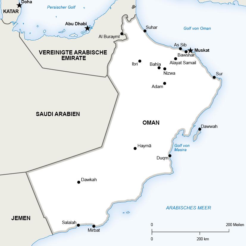 Karte Oman Kostenlos.Oman Alsharq