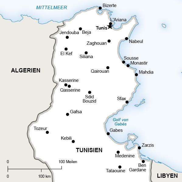 Tunesien Karte Welt.Tunesien Alsharq